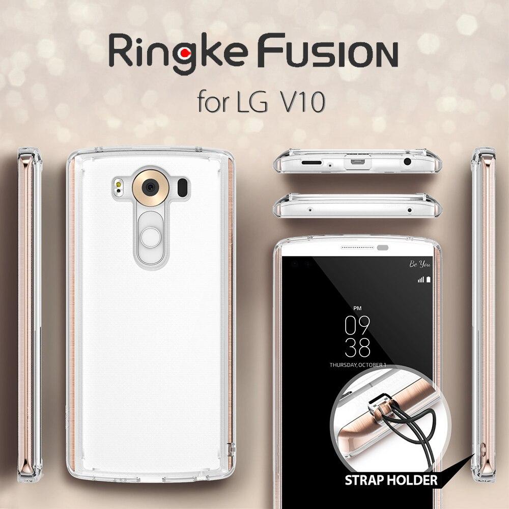 bilder für 100% Original Ringke Fusion für LG V10 Fall-Ultra Slim haut Anpassbare Abdeckung TPU + PC Zurück Abdeckungs-fälle für LG V10