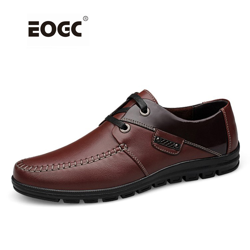 Fullkornigt lädermäns skor Högkvalitativt mjukt läder fritidskläder Handgjorda plusstorlekar slitar skor män zapatos hombre