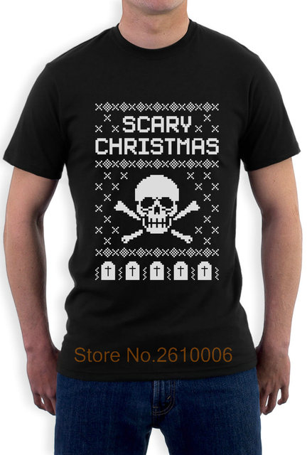 Ugly Christmas Sweater Skull Scary Christmas Cool T Shirt Gift Idea ...