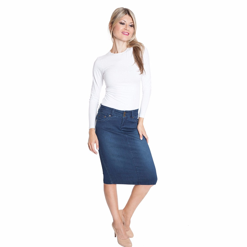 7a95351ed LIVA GIRL Autumn Winter Thick Denim Skirt Office Women Lady Girls Jeans  Skirt with Pocket Slim Sexy Denim Skirts-in Skirts from Women's Clothing on  ...