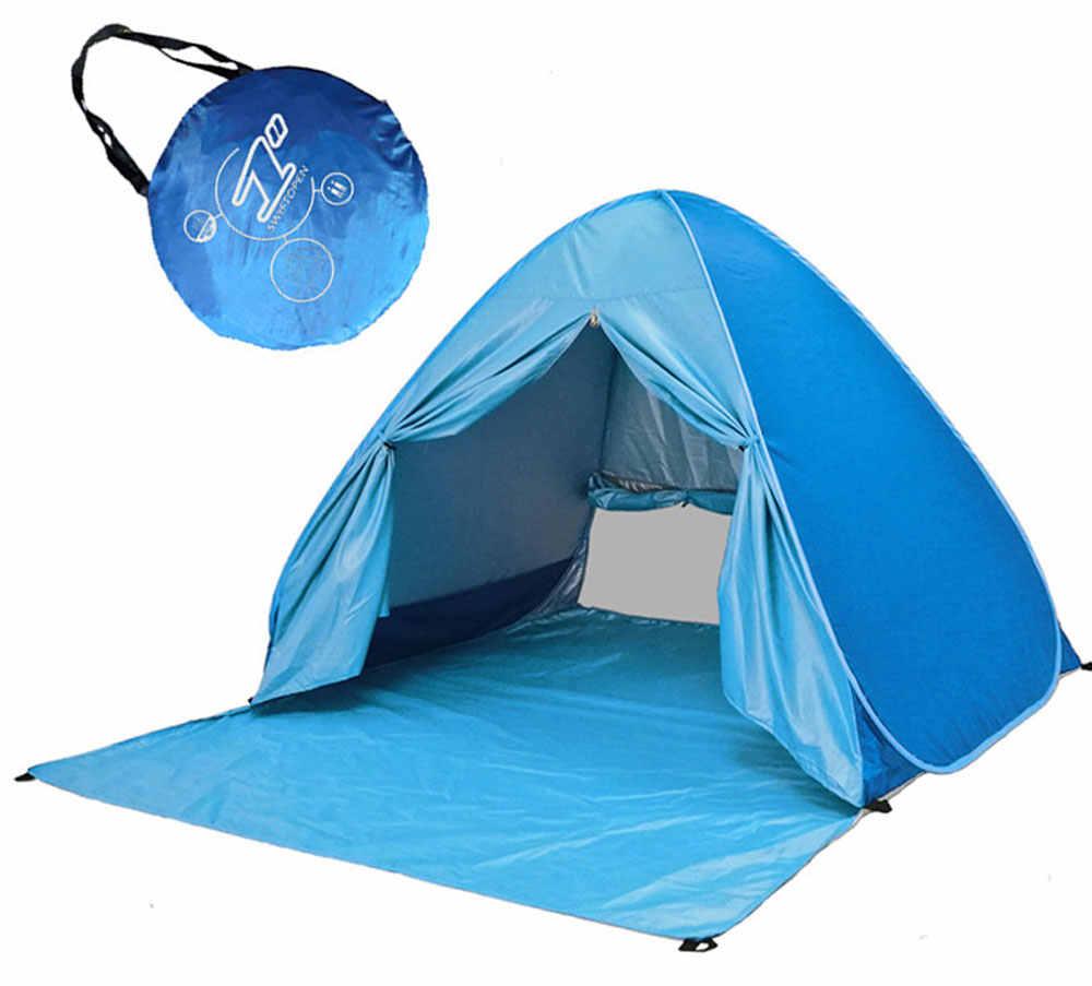 Automatique Camping Tente Livraison À Construire Camping Plage Parasol Solaire Tente Vitesse Ouvert Camping En Plein Air Tente