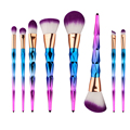 Colorful Diamond Shape Plastic Handle Cosmetic Makeup Brushes Set Kit Blusher Powder Foundation Brush