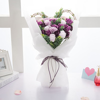 Valentine's day eternal rose gift gift soap bouquet imitation flower gift box Free Shipping