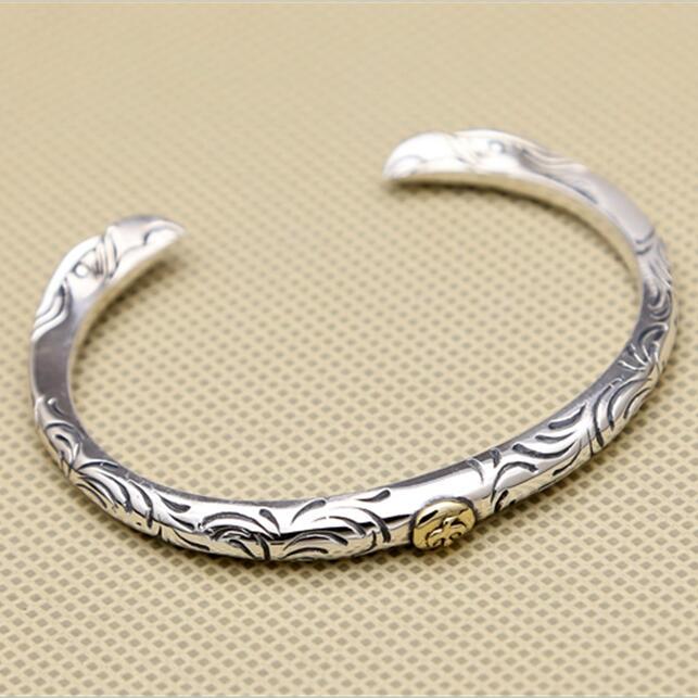 Silver 925 Twin-eagle Narrow Band Cuff Bangle Men Women 100% Sterling Silver 925 Thai Silver Jewelry Top Quality Free Gift Box цены онлайн
