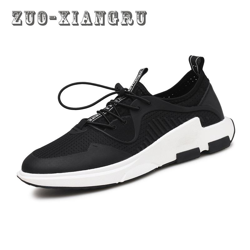 New Men Casual Shoes Summer Breathable Mesh Zapatillas For Men Super Light Flats Shoes Foot Wrapping High Quality Footwear men shoes summer breathable lace up mesh casual shoes light comfort sport outdoor men flats cheap sale high quality krasovki