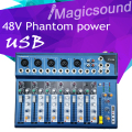 High Quality F7 F7-USB Audio Mixer Console with USB 7 Channel Mixer Sound Console DJ Equipment/48V Phantom Power Supply
