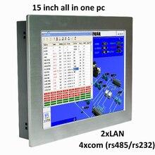 Intel atom N2800 1.86 Ghz fanless mini tela sensível ao toque de 15 polegada tablet pc industrial do computador