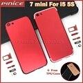 Habitação colorido para iphone 5 5s como i7 substituição da bateria voltar quadro habitação tampa traseira para o iphone 7 mini