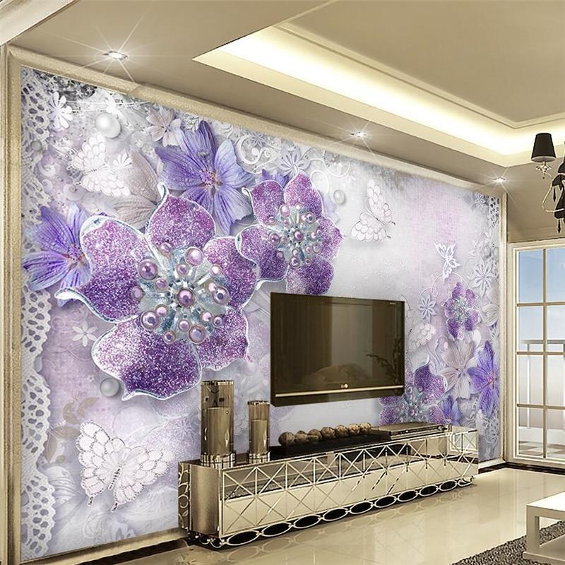Popular purple bedroom wallpaper buy cheap purple bedroom for Purple bedroom wallpaper