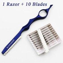 2017 Hot Japan Stainless Steel Professional Sharp Barber Razor Blade Hair Razors Cut Cutting Thinning Knife Salon Tools