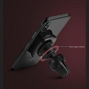 Image 5 - HOCO CA23 Evrensel Manyetik 360 Derece Rotasyon PU Deri araç tutucu Hava Firar telefon tutucu Standı iphone braketi X