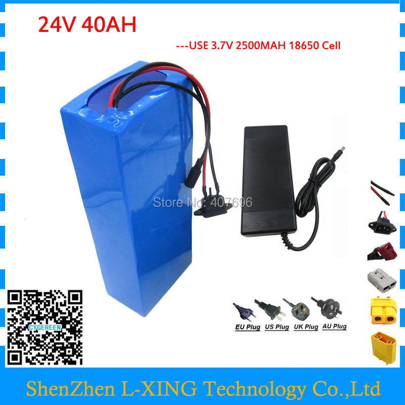 Free customs duty 1000W 24V lithium battery 24V 40AH electric bike battery 24 V battery with 50A BMS 29.4V 3A Charger 24v e bike battery 8ah 500w with 29 4v 2a charger lithium battery built in 30a bms electric bicycle battery 24v free shipping