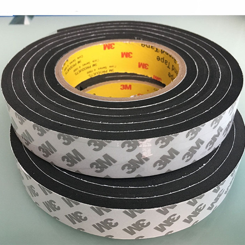 1pcs 5M Strong Eva Sponge adhesive tape Black white double sided Foam Tape For Automotive Exterior Trim Parts Home Hardware in Tape from Home Improvement