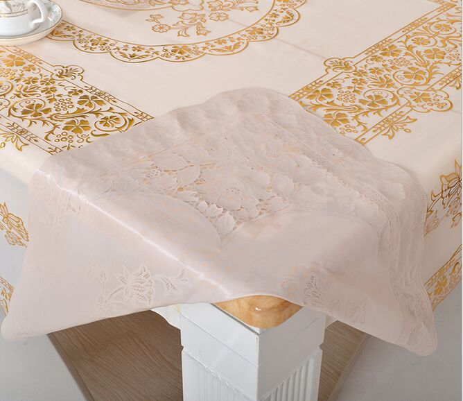 European Style Bronzing Tablecloth PVC Waterproof Round European Coffee  Mats Non Slip Table Cover Cloth Free Shipping  In Tablecloths From Home U0026  Garden On ...