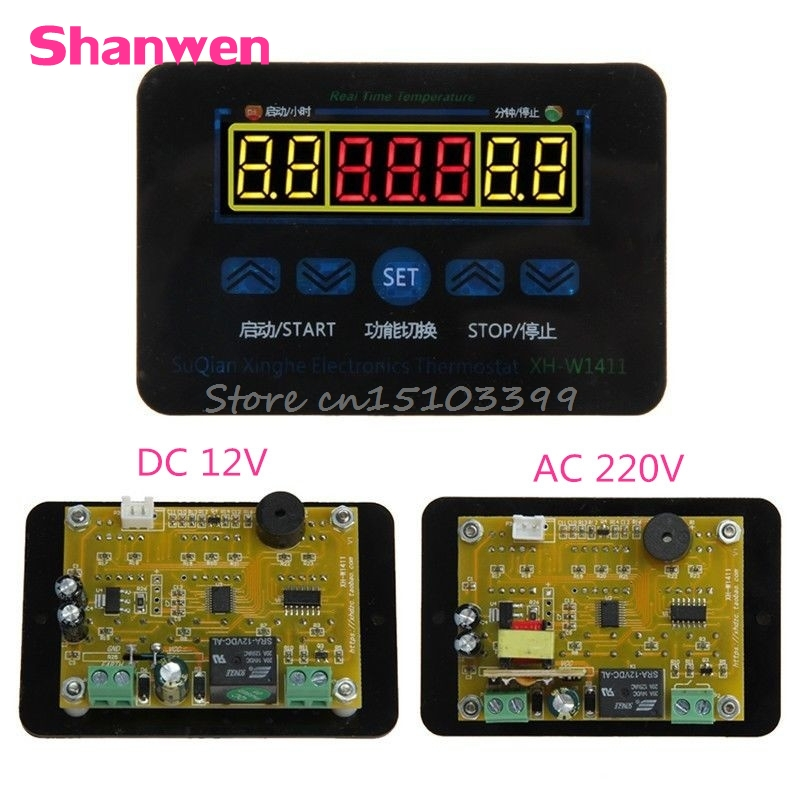 12/220V 10A Digital LED Temperature Controller Thermostat Control Switch + Probe #G205M# Best Quality 1x 220v 16a thermostat knob refrigerator temperature switch controller probe