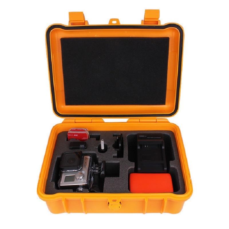 Gopro Accessories Medium Plastic Shockproof Protective Storage Carry Case Box Shoulder Bag for Go Pro Hero 6 5 4 3+SJCAM XIAOYI цена