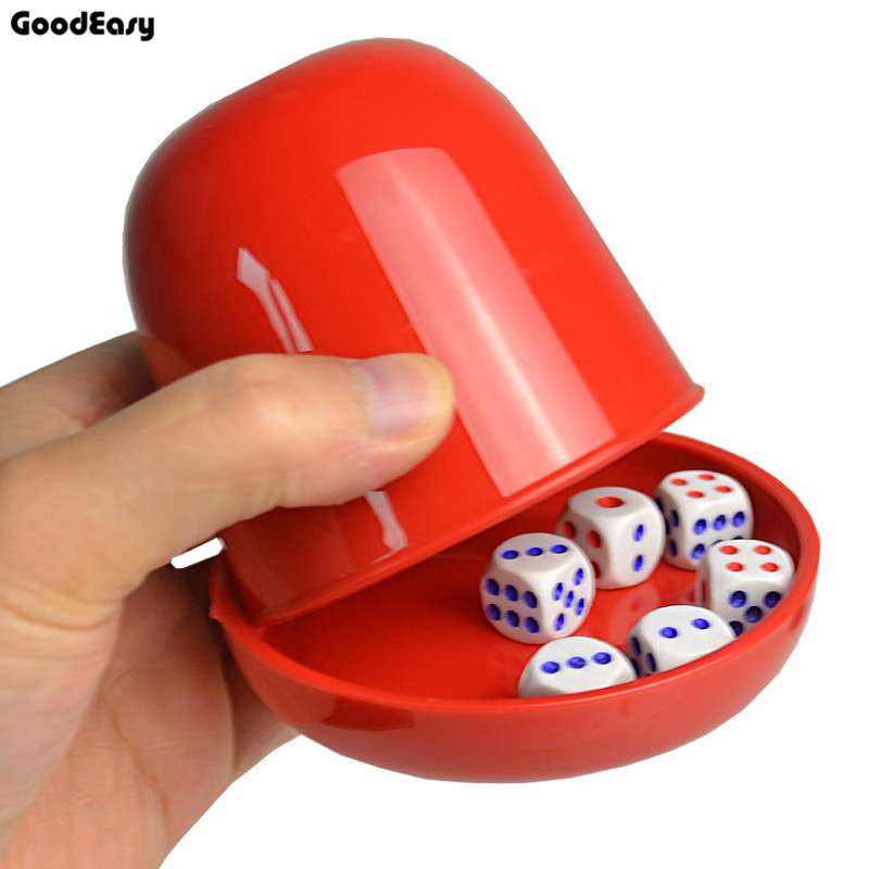 Plastic Poker Dice cup set with Tray/Lid 6 dices Shaking Cup Drinking Board Game Casino Gambling Dice Box Custom LOGO and Color Углеродное волокно