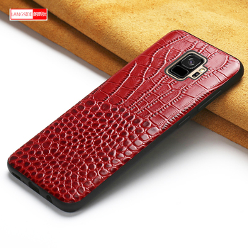 Phone Case For Samsung Galaxy S10 plus S9 S6 S7 Edge S8 plus A8 A3 A5 A7 J3 J5 J7 2018 Note 8 9 A50 A70 Crocodile Cowhide Cover
