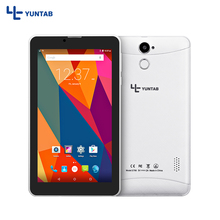 Купить с кэшбэком Yuntab 7 inch 3G Unlocked Smartphone Tablet PC 1GB+8GB Android 5.1 MTK8321 Quad Core IPS 1024*600 Google Tablet GPS Bluetooth