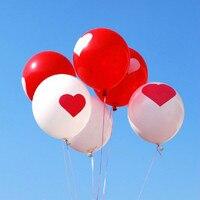 12 inth 8 gam Vòng Ballons Tim Valentines Red Balloons Trái Tim Màu Trắng Latex Ballons Cưới Tham Gia Đề Xuất Hôn Nhân Bóng Bay