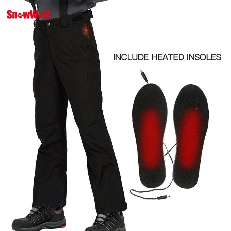 SNOWWOLF 2019 Hommes D'hiver En Plein Air Ski Pantalon USB Infrarouge Chauffée Sports D'hiver Pantalon Électrique Thermique Snowboard Pantalons Imperméables - 3