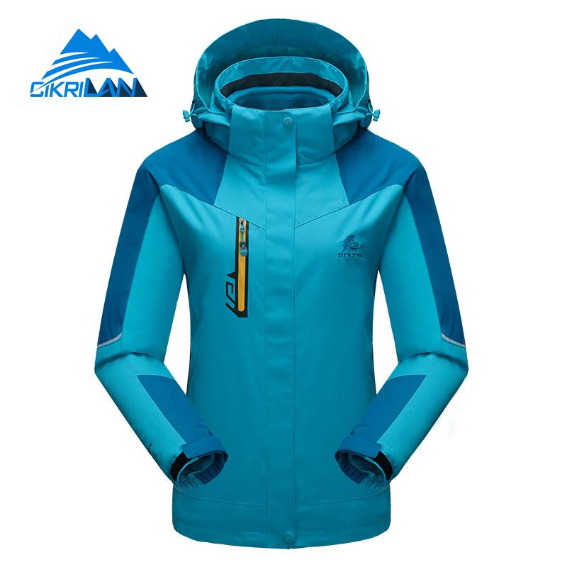 Winter Climbing Snowboard Outdoor Windproof Waterproof Jacket Women Camping Hiking Ski Coat With Fleece Lining Chaquetas Mujer detector new waterproof windproof hiking camping outdoor jacket winter clothes outerwear ski snowboard jacket men