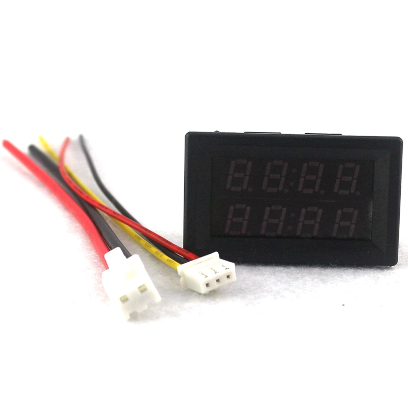 Digital DC Voltmeter Ammeter DC 200V 10A Voltage Current Meter Power Supply DC4V-28V Red Blue LED Dual Display Free Shipping