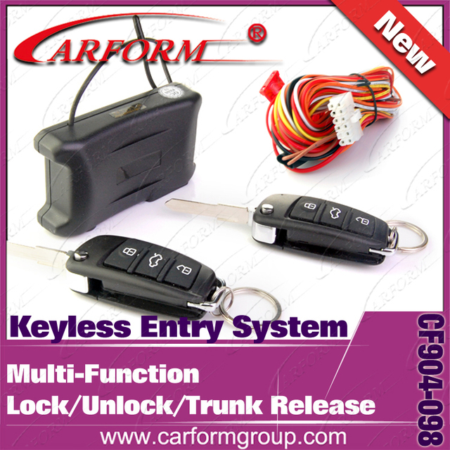 Free shipping Keyless entry system with CE Certification Lock Unlock Trunk open etc funciton