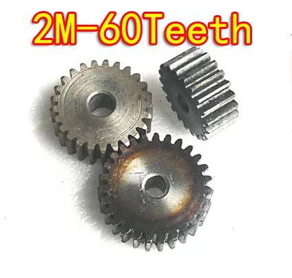 Diameter:124mm 2.0m Mould 60teeth High carbon steel metal cylindrical spur gear motor gearbox märklin katalog spur z