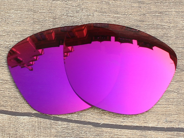 Purple Red Mirror Polarized Replacement Lenses For Frogskins Sunglasses Frame 100% UVA & UVB Protection
