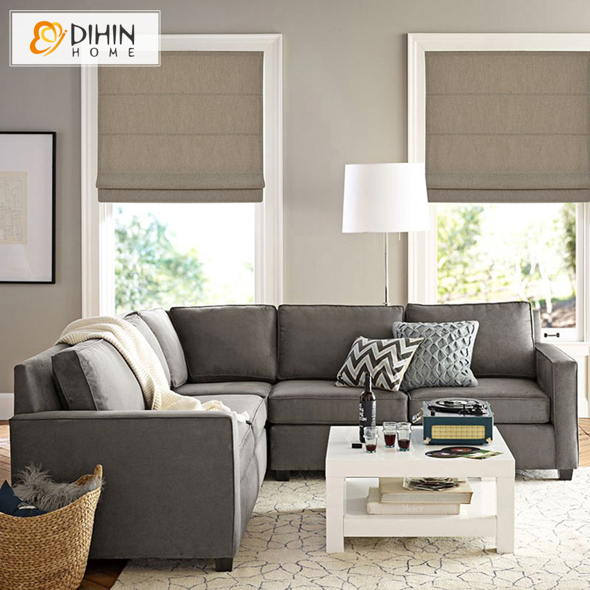 DIHIN HOME Cotton/Linen Blackout Curtain Roman Blinds Curtain For Kitchen  Bathroom Bedroom Many Colors For C In Curtains From Home U0026 Garden On ...
