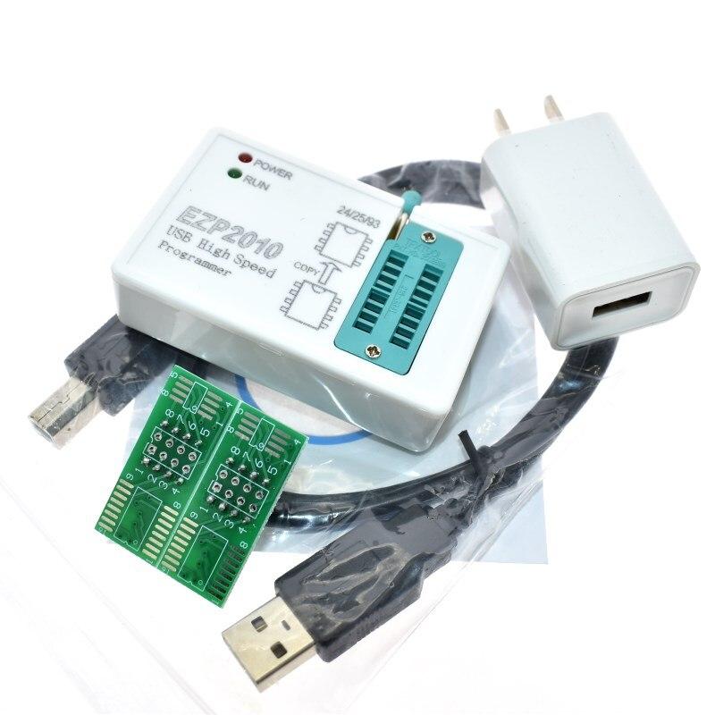 Ezp2010 alta velocidade usb spi programa + ic clipes de teste socke suporte 24 25 93 eeprom 25 flash bios chip