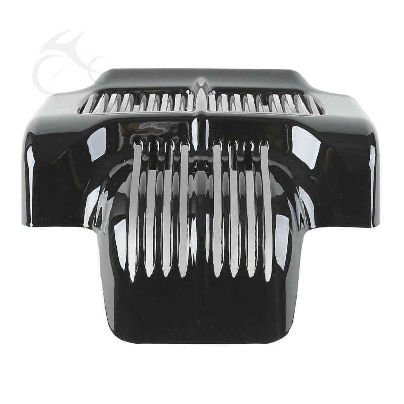 Мотоциклетная черная Стоковая Крышка масляного радиатора для Harley Touring Road King Electra модель Road Street Glide Trikes 2011-2016