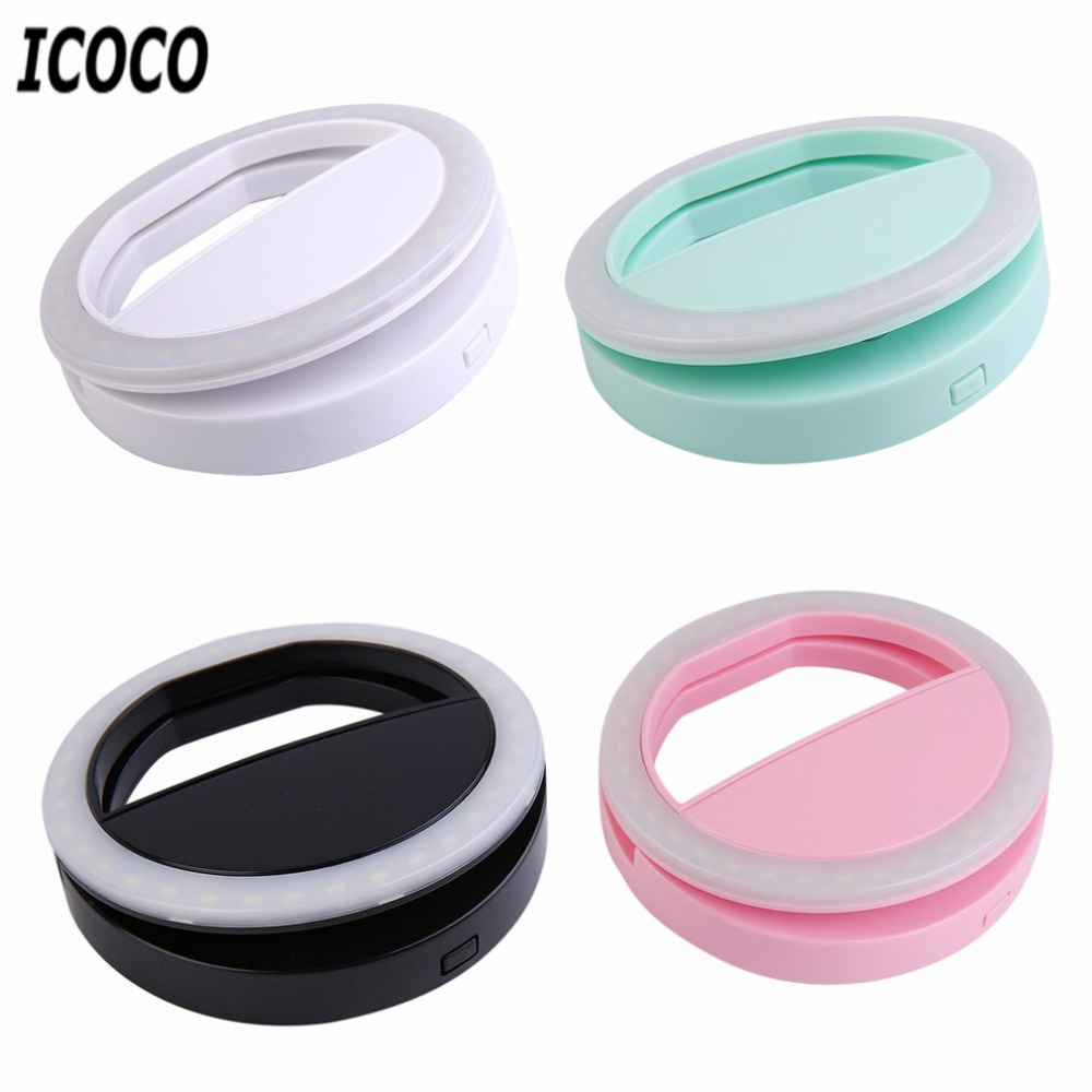 3 Modes Selfie LED Ring Flash Telephone Portable LED Mobile Phone Light Clip Lamp For IPhone 8 7 6 Plus Samsung