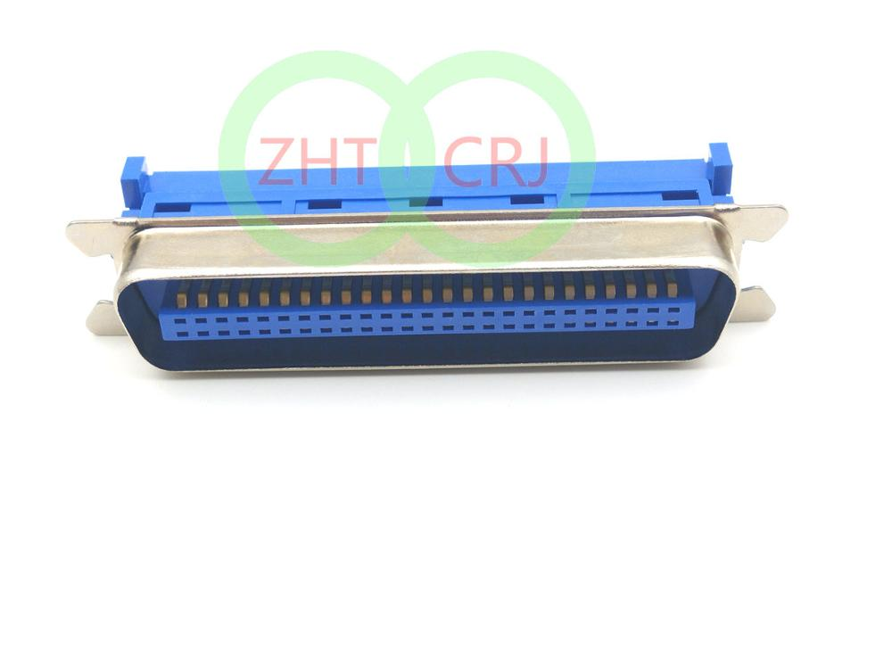10pcs <font><b>50</b></font> <font><b>Pin</b></font> Male Centronic IDC Crimp Connectors for SCSI Ribbon <font><b>Flat</b></font> <font><b>Cable</b></font> PC MAC SUN image