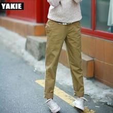 Harem pants women 2017 spring summer cuasal pants loose cotton high waist khaki green white Plus size S-XXXL female trousers