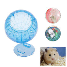 Mouse Rat Hamster Toys Plastic Small Pet Toy Running Jogging Playing Ball For Outdoor Walking Random Color