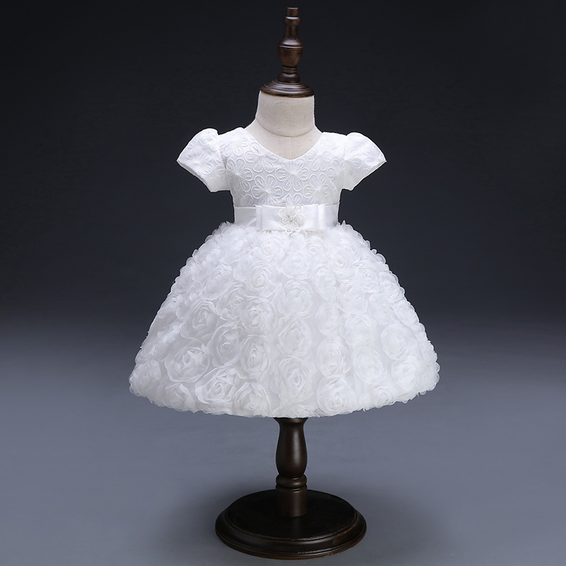 White Baby Dresses Girl Newborn 1st Year Birthday Infant Outfit Cute Princess Party Wedding Christening Dress Gown For Baby Girl winter baby girl christening gown infant princess dress 1st birthday outfits children kids party wear dress girl formal vestido