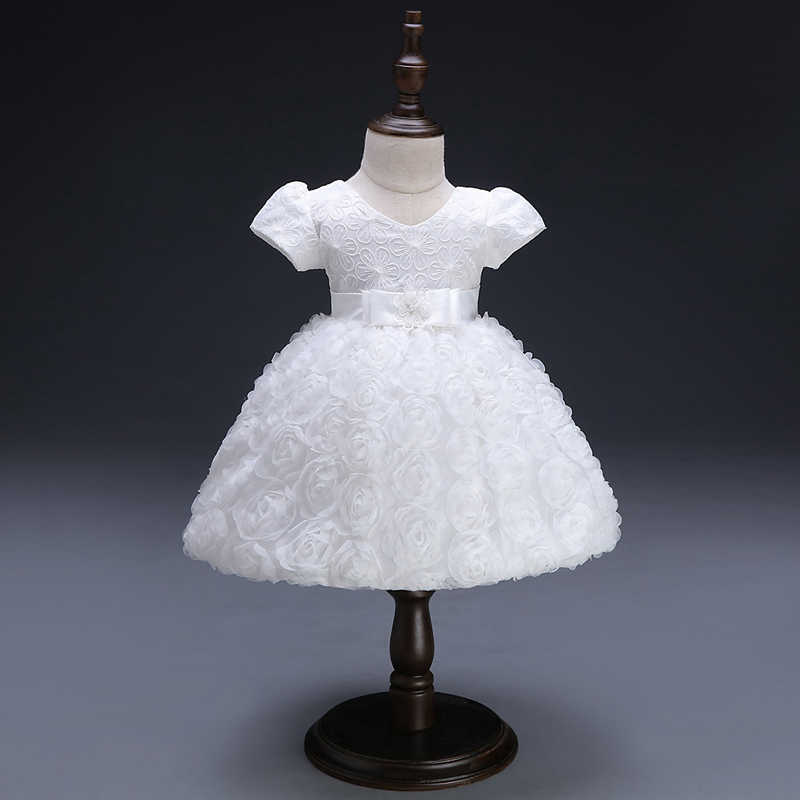54da01a8a White Baby Dresses Girl Newborn 1st Year Birthday Infant Outfit Cute  Princess Party Wedding Christening Dress
