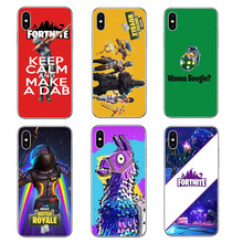 Game Fortnite Battle Royale Unicorn Hard PC Phone Case For iPhone 8 8 Plus 7 7 Plus 6 6s Plus 5 5s SE  X 10 Phone Bags Cover