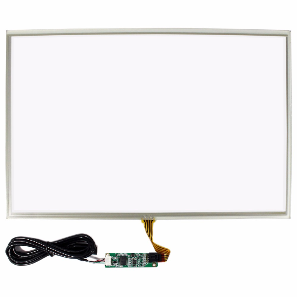 17 Resistive Touch Panel For 17inch 1920x1200 LCD Screen With USB Controller 17inch resistive touch screen panel 382 2x239 5mm 5wire usb driver board kit for 17 monitor