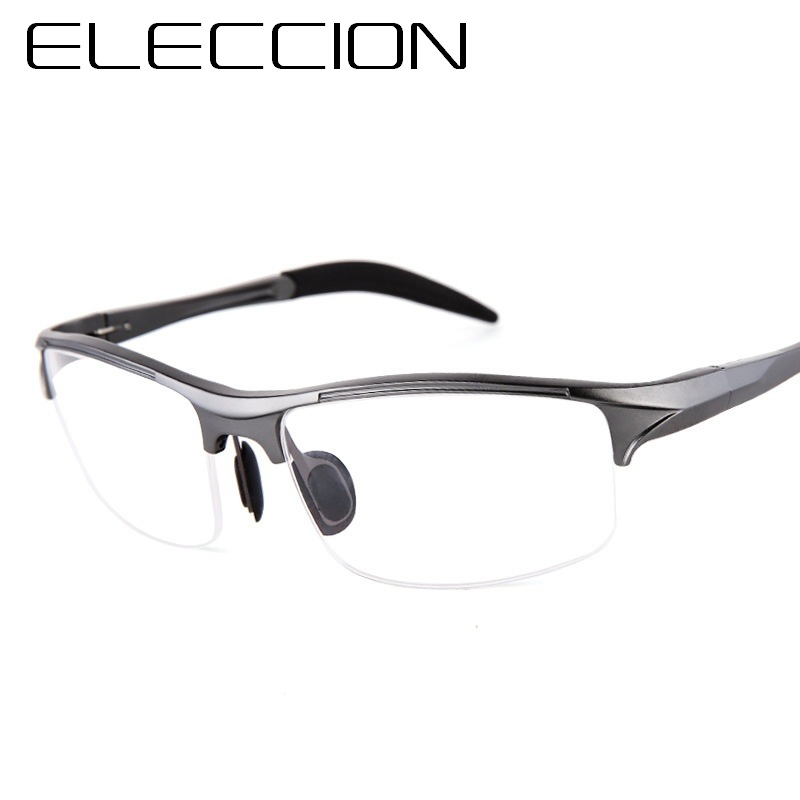 ELECCION Brand Prescription Men Glasses Frame Aluminium Magnesium Alloy Frame Spectacle Eyeglasses Myopia Glasses Sports Goggles