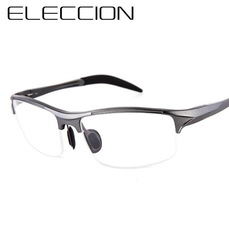 0bb162b43def ELECCION Brand Prescription Men Glasses Frame Aluminium Magnesium Alloy  Frame Spectacle Eyeglasses Myopia Glasses sports goggles