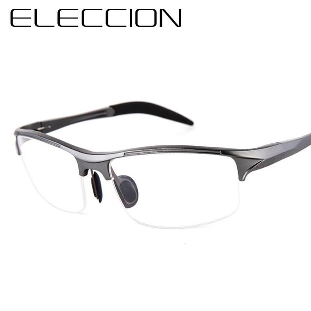 aaab1f43be ELECCION Brand Prescription Men Glasses Frame Aluminium Magnesium Alloy Frame  Spectacle Eyeglasses Myopia Glasses sports goggles