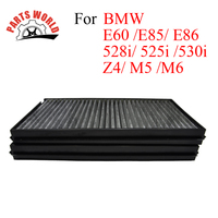Car Parts Carbon Cabin Filter For BMW E60 E85 E86 528i 525i 530i Z4 M5 M6 Auto Parts Engine Cleaner Accessories OEM 13717521033