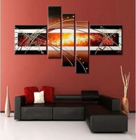 HOT SALE 2015 TOP Modern ART Abstract ART Oil Painting 100 Hand Painted 5p Large HOME
