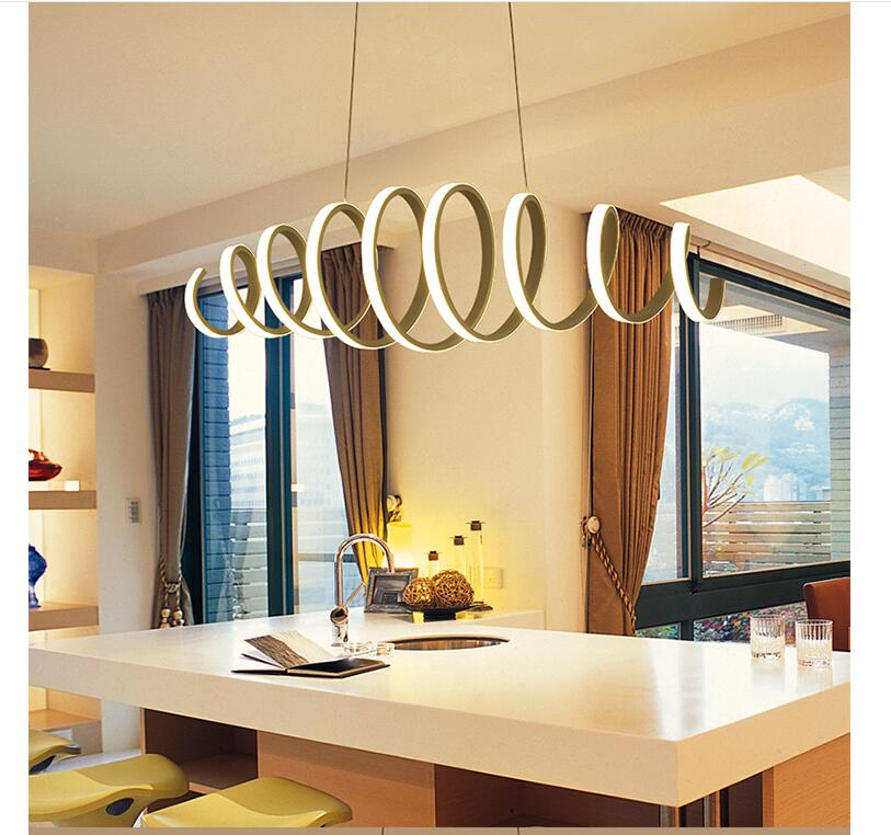 Free Shipping Newest Modern LED Pendant Lights Wave White