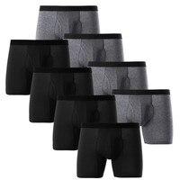 8pcs/lot Male Panties Cotton Men's Underwear Boxers Breathable Man Boxer Solid Underpants Comfortable Brand Shorts