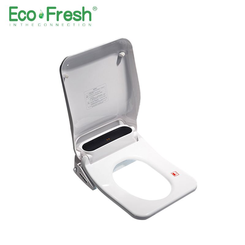 Ecofresh Square Smart Toilet Seat Toilet Seat Bidet Electric Bidet Cover Heat Seat Led Light Intelligent Toilet Cover Auto