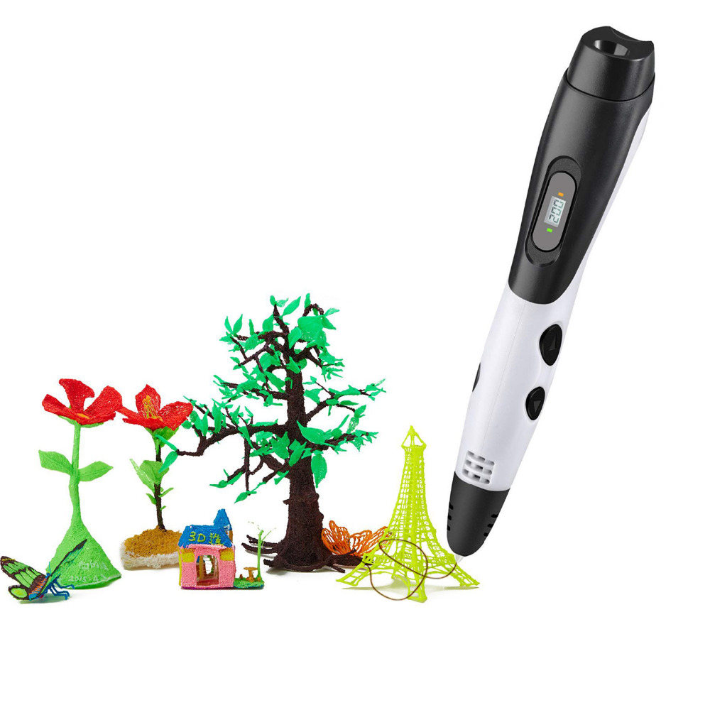 3D drawing pen with LCD display / quick hot/ Safe, non toxic/easy to operate for children, adults, doodle, drawing, and art &